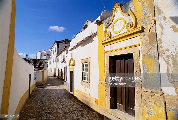 Whitewashed Houses on Obidos Street