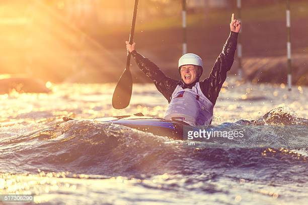 Whitewater kayaking winner