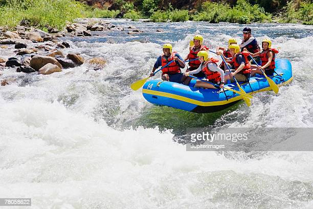 Whitewater rafters
