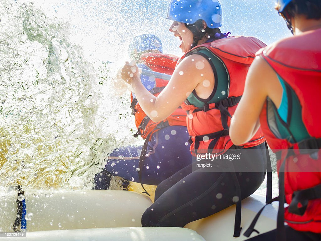 Whitewater Rafting Fun : Stock Photo