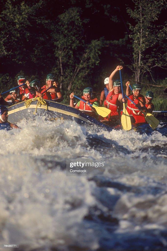 Whitewater rafting on the Ottawa River , Ontario , Canada : Stockfoto