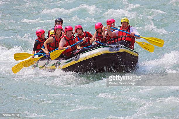 Whitewater rafting on the Salzach River in Austria