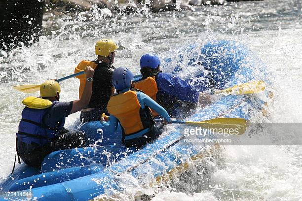 whitewater rafting - swift river stock pictures, royalty-free photos & images