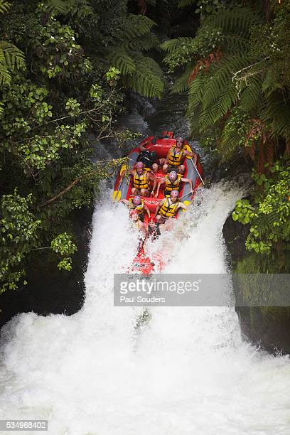 whitewater rafting - rotorua stock pictures, royalty-free photos & images
