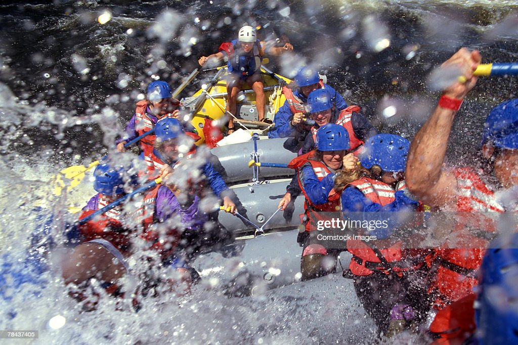 Whitewater rafting : Stock Photo