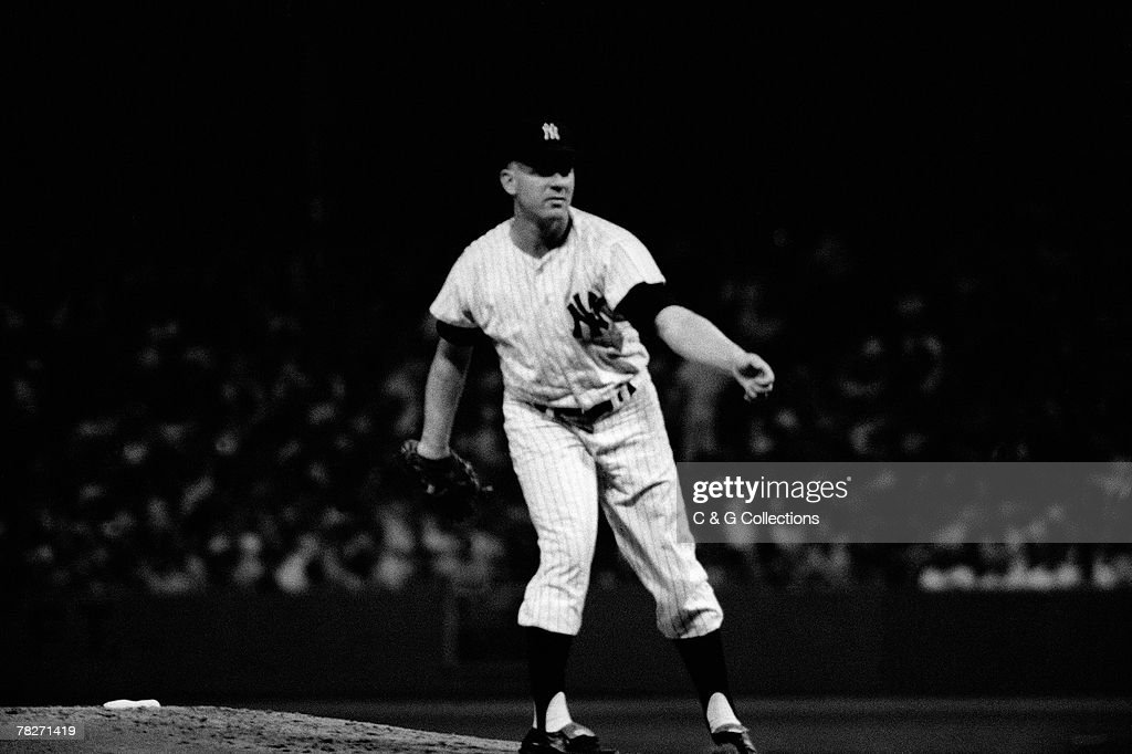 Whitey Ford of the 1961 New York Yankees : News Photo