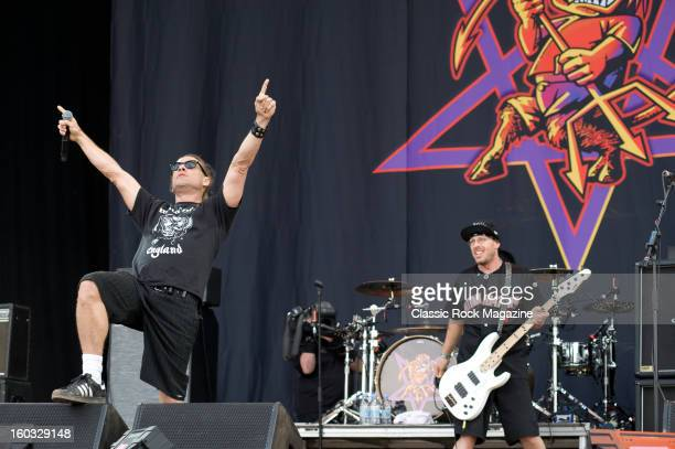 Whitfield Crane and Cordell Crockett of American rock band Ugly Kid Joe performing live onstage at Download Festival June 10 2012