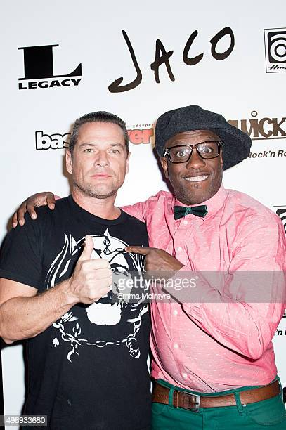 Whitfield Crane and Corey Glover attend the premiere of Jaco at The Theater at The Ace Hotel on November 22 2015 in Los Angeles California