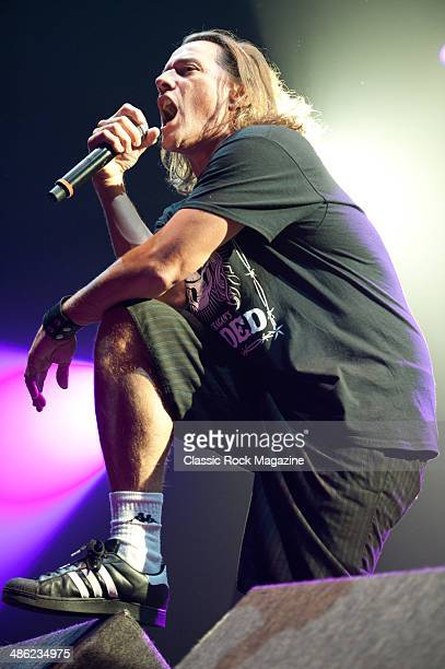 Whitfield Crane of American hard rock band Ugly Kid Joe performing live onstage at the Wembley Arena October 28 2012