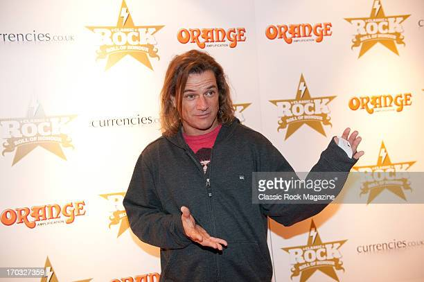 Whitfield Crane of American rock band Ugly Kid Joe attends the Classic Rock Roll of Honour at the Roundhouse November 13 2012