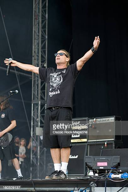 Whitfield Crane of American rock band Ugly Kid Joe performing live onstage at Download Festival June 10 2012