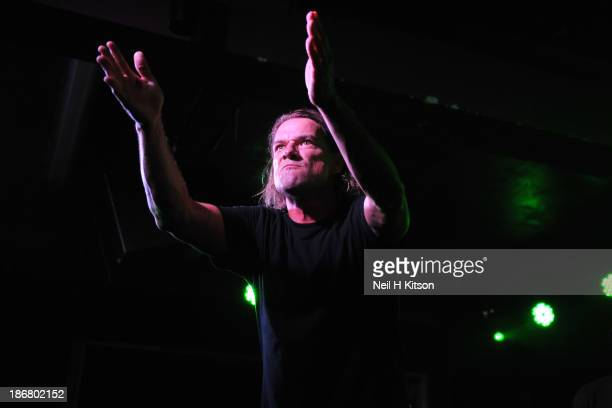 Whitfield Crane of Ugly Kid Joe performs on stage at Manchester Academy on October 24 2013 in Manchester England