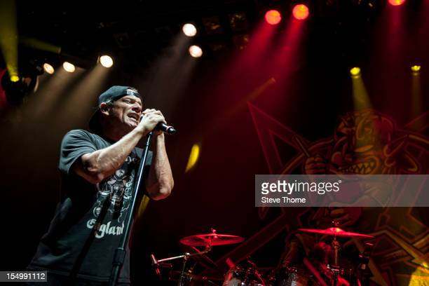 Whitfield Crane of Ugly Kid Joe performs on stage at the Civic Hall on October 25 2012 in Wolverhampton United Kingdom