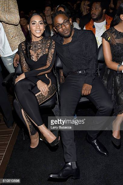 Whitney Alford and rapper Kendrick Lamar attend The 58th GRAMMY Awards at Staples Center on February 15 2016 in Los Angeles California