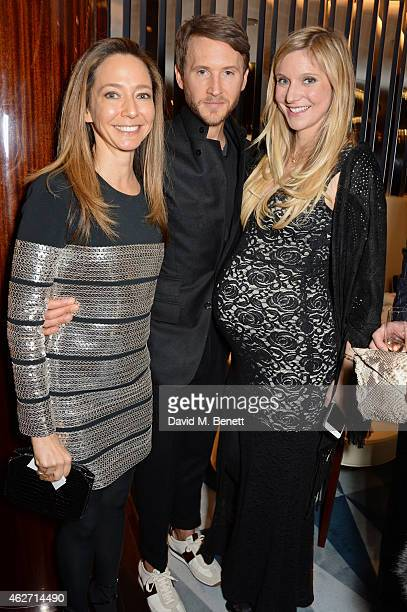 Whitney Bromberg Hawkins and guests attend a charity dinner hosted by Nicola Formby and AA Gill with Dana Hoegh in support of Borne a charity aimed...