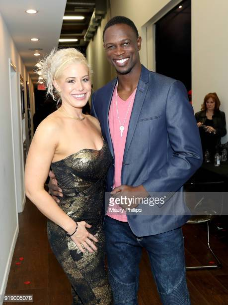 Whitney Browers and Newton Mayenge attend the 2018 Beauty The Beats Celebrity Party and Panel Discussion at Dream Magic Studios on February 15 2018...