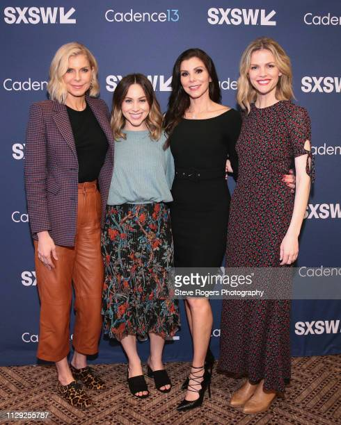 Whitney Casey Jaclyn Johnson Heather Dubrow and Brooklyn Decker attend Heather Dubrow's World Podcast during 2019 SXSW Conference and Festivals at JW...