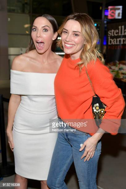Whitney Cummings and Arielle Vandenberg attend the premiere of IFC Films' 'The Female Brain' at ArcLight Hollywood on February 1 2018 in Hollywood...