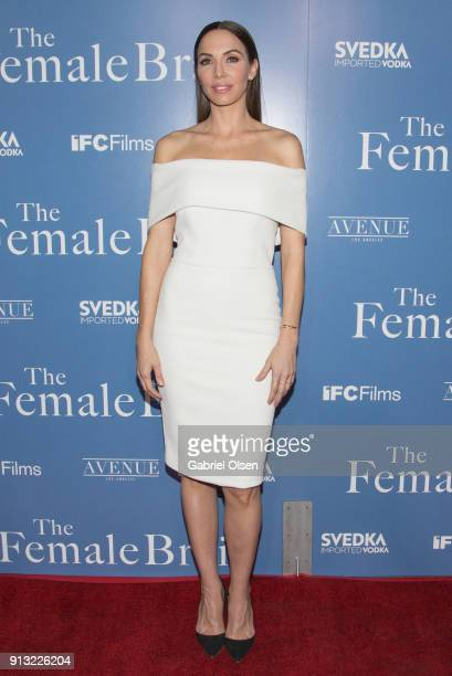 Whitney Cummings arrives for the premiere of IFC Films' 'The Female Brain' at ArcLight Hollywood on February 1 2018 in Hollywood California
