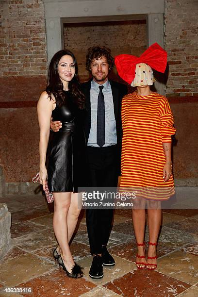 Whitney Cummings Erik Anders Lang and Sia attend the Miu Miu Women's Tales Dinner during the 72nd Venice Film Festival at Ca' Corner della Regina on...