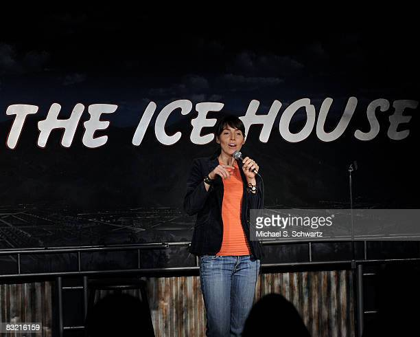 Whitney Cummings performs at the Ice House Comedy Club on October 9 2008 in Pasadena California