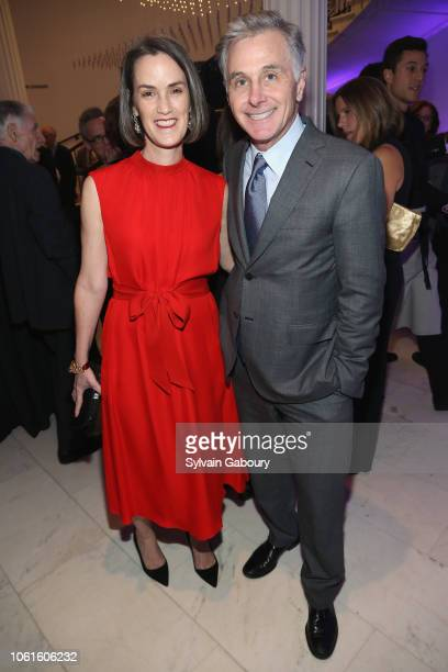 Whitney Donhauser and Jamie Dinan attend Museum Of The City Of New York Louis Auchincloss Prize Gala at Museum of the City of New York on November 14...