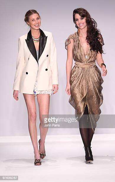 Whitney Eve Port and model walk the runway at the Whitney Eve Port show during the Gen Art 6th Annual Fresh Faces in Fashion Show during the opening...