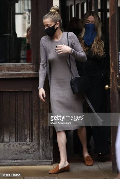 Whitney Henriquez arrives at the Royal Courts of Justice, Strand on July 27, 2020 in London, England. The Hollywood Actor is suing News Group...