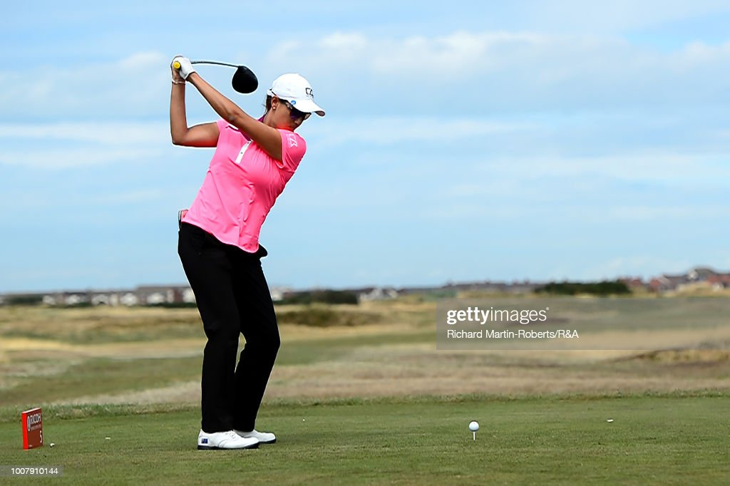 whitney hillier of australia tees off during final