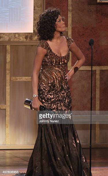 Whitney Houston accepts an award at the 3rd annual BET Honors at the Warner Theatre on January 16, 2010 in Washington, DC.