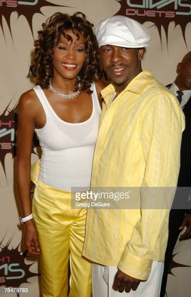 Whitney Houston and Bobby Brown at the MGM Grand Hotel in Las Vegas Nevada