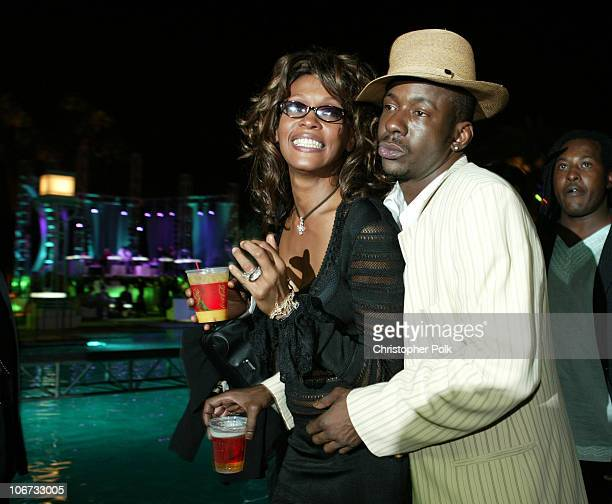 Whitney Houston and Bobby Brown during VH1 Divas Duets A Concert to Benefit the VH1 Save the Music Foundation After Party at MGM Grand in Las Vegas...