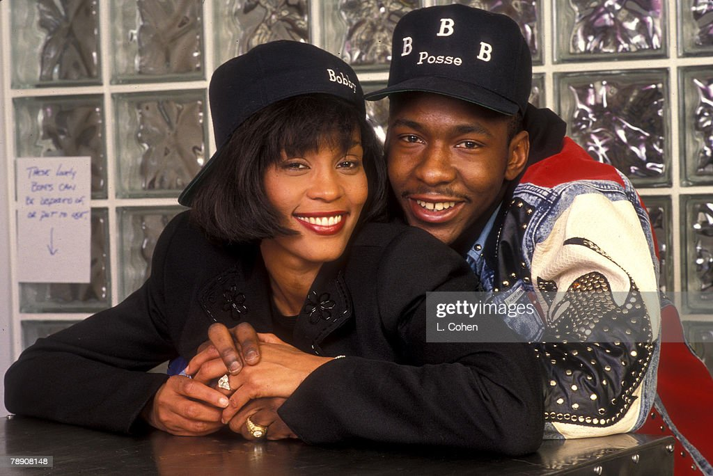 Whitney Houston and Bobby Brown Engagement File Photo : News Photo