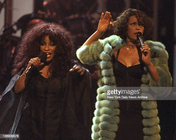 Whitney Houston and Chaka Khan perform at VH1 Divas Conert at Beacon Theater