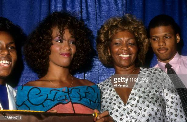 Whitney Houston and Cissy Houston participate in a United Negro College Fund event on July 13, 1988 in New York City.