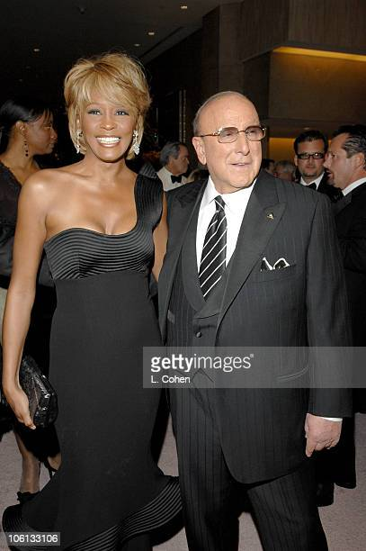 Whitney Houston and Clive Davis during MercedesBenz Presents the 17th Carousel of Hope Ball Red Carpet at Beverly Hills Hilton in Beverly Hills...