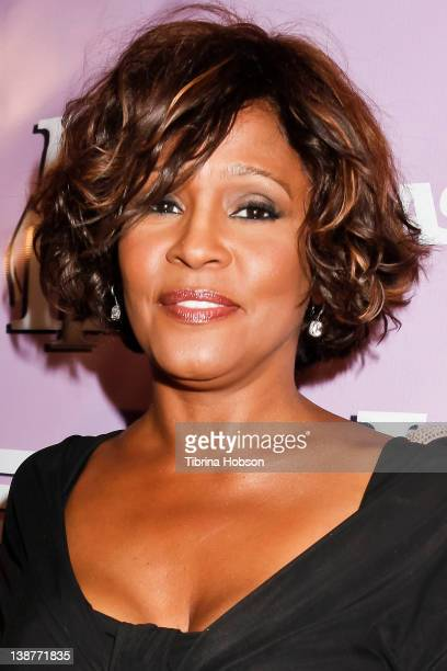 Whitney Houston arrives to The love of RB Grammy Party at Tru Hollywood on February 9 2012 in Hollywood California