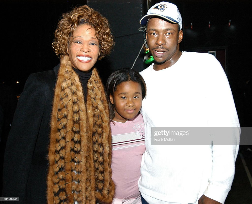 """Whitney Houston and Bobby Brown Attend """"Praise Power"""" Concert : News Photo"""