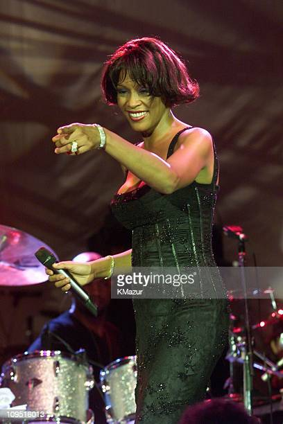 Whitney Houston during The 42nd Annual GRAMMY Awards Arista Records PreGRAMMY Party at Beverly Hilton Hotel in Beverly Hills California United States
