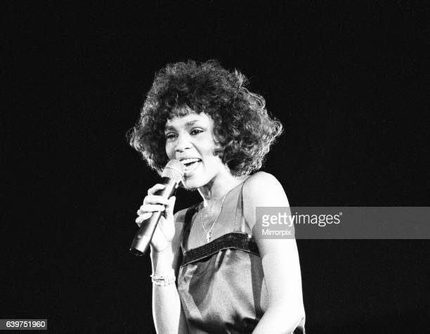 Whitney Houston in Concert at the National Exhibition Centre, Birmingham , 27th April 1988. Moment of Truth World Tour 1988.