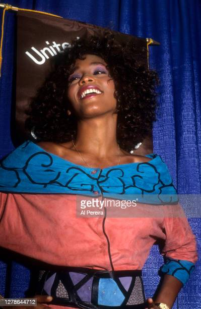 Whitney Houston participates in a United Negro College Fund event on July 13, 1988 in New York City.