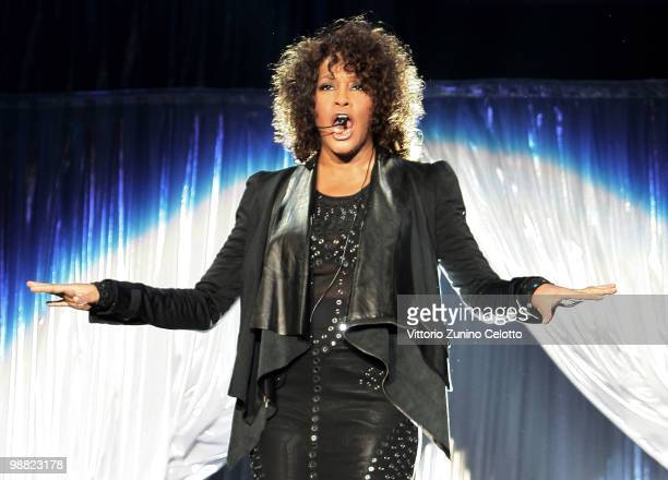 Whitney Houston performs at Mediolanum Forum on May 3 2010 in Milan Italy