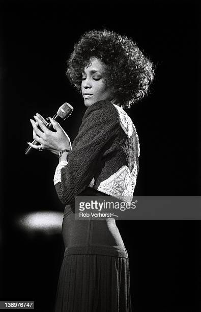 Whitney Houston performs on stage Ahoy Rotterdam Netherlands 19th April 1988