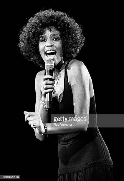 Whitney Houston performs on stage at Ahoy Rotterdam Netherlands 19th April 1988