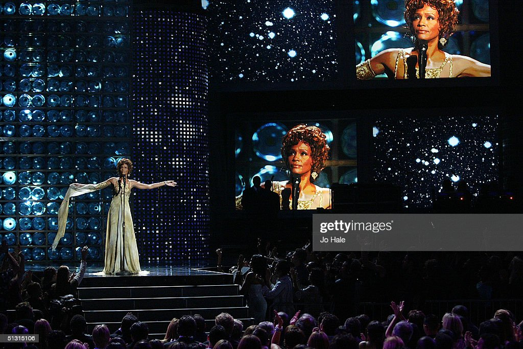 Whitney Houston performs on stage at the 2004 World Music Awards at the Thomas & Mack Centre on September 15, 2004 in Las Vegas.