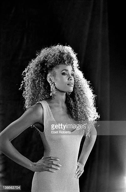 Whitney Houston photographed at the 'I Want To Dance With Somebody' video shoot in New York City on March 13 1987