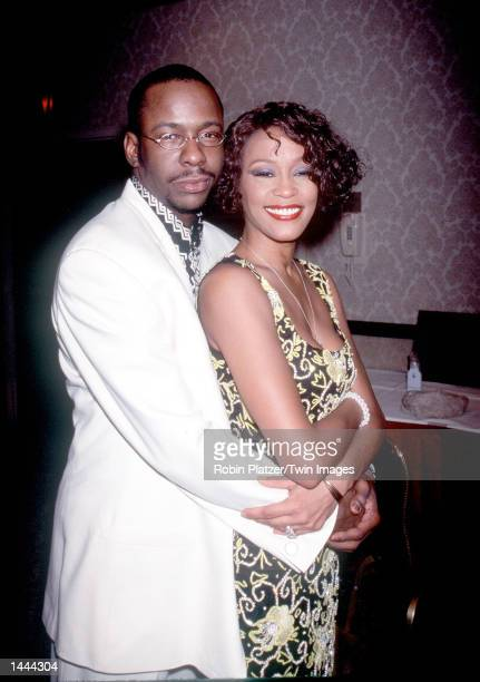 Whitney Houston with Bobby Brown at Whitney Houston''s AllStar Holiday Gala in New York NY December 4 1999
