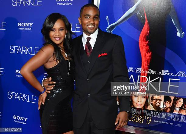 Whitney Houston's daughter Bobbi Kristina Brown and her boyfriend Nick Gordon arrive for the premiere of Sparkle at Grauman's Chinese Theater in...