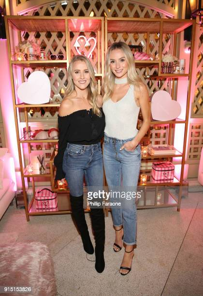 Whitney Janelle Young and Lauren Bushnell attend Victoria's Secret Ultimate Girls Night In with Angels Josephine Skriver and Romee Strijd at...