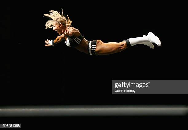 Whitney Jones of the United States competes in the Arnold Classic Pro Fitness competition during the 2016 Arnold Classic on March 19 2016 in...